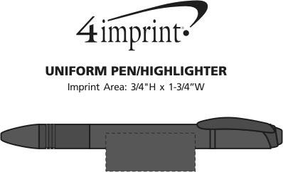Imprint Area of Uniform Pen/Highlighter