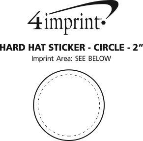 "Imprint Area of Hard Hat Sticker - Circle - 2"" Dia"