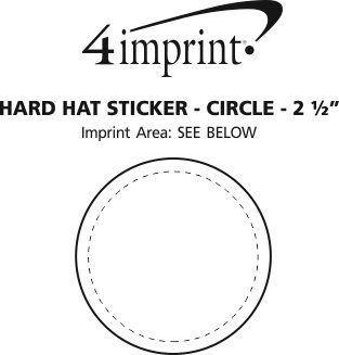 "Imprint Area of Hard Hat Sticker - Circle - 2-1/2"" Dia"
