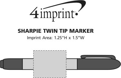 Imprint Area of Sharpie Twin Tip Marker