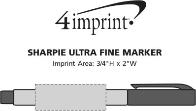 Imprint Area of Sharpie Ultra Fine Marker