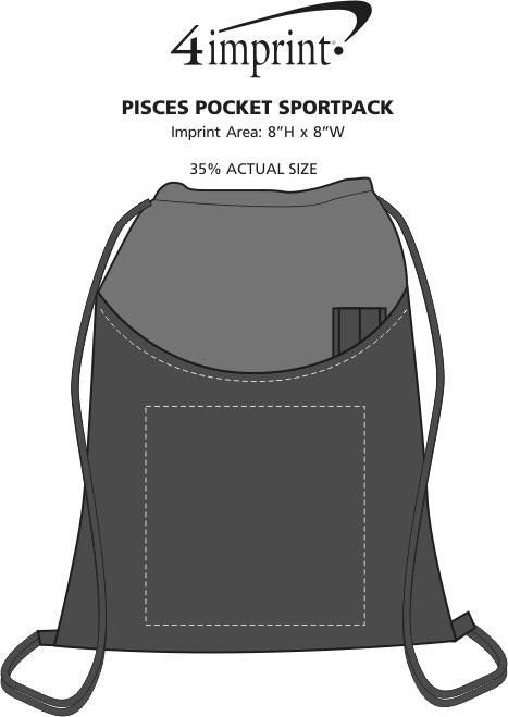 Imprint Area of Pisces Pocket Sportpack