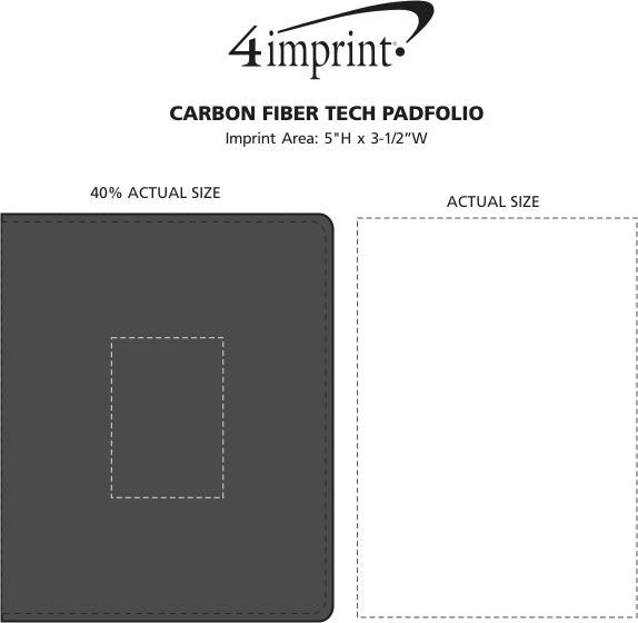 Imprint Area of Carbon Fiber Tech Padfolio