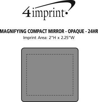 Imprint Area of Magnifying Compact Mirror - Opaque - 24 hr