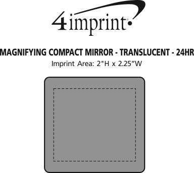 Imprint Area of Magnifying Compact Mirror - Translucent - 24 hr