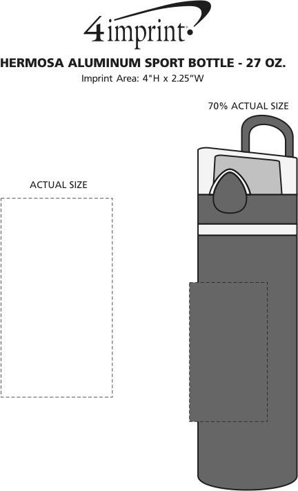 Imprint Area of Hermosa Aluminum Sport Bottle - 27 oz.