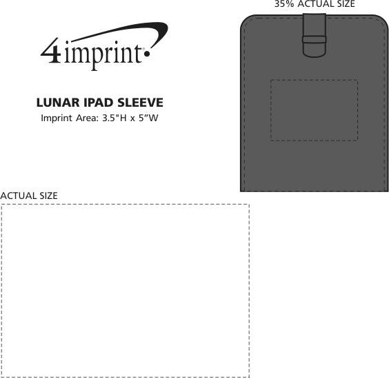 Imprint Area of Lunar iPad Sleeve