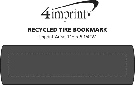Imprint Area of Recycled Tire Bookmark
