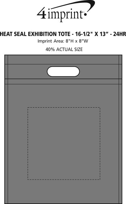 """Imprint Area of Heat Seal Exhibition Tote - 16-1/2"""" x 13"""" - 24 hr"""