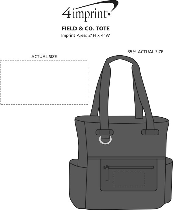 Imprint Area of Field & Co. Tote