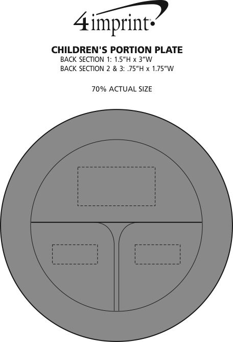Imprint Area of Children's Portion Plate