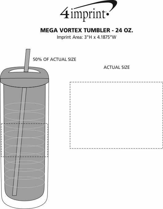 Imprint Area of Mega Vortex Tumbler - 24 oz.