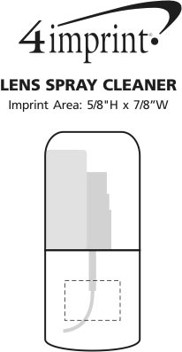 Imprint Area of Lens Spray Cleaner