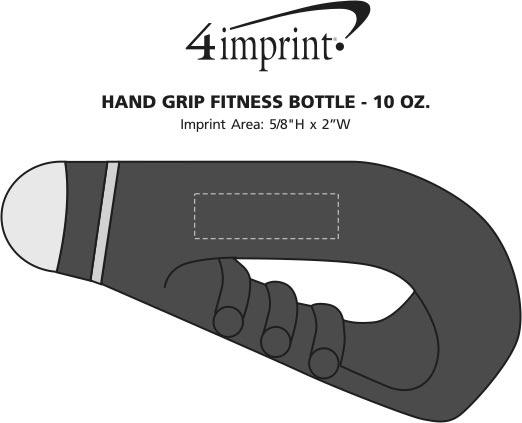 Imprint Area of Hand Grip Fitness Bottle - 10 oz.