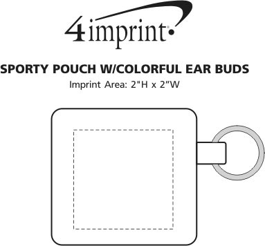Imprint Area of Sporty Pouch with Colorful Ear Buds