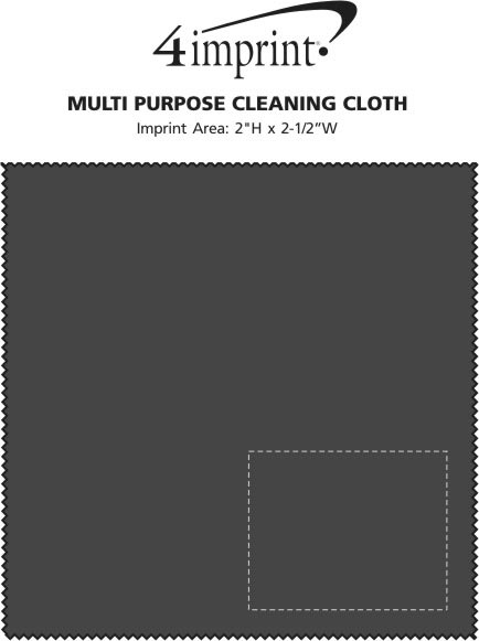 """Imprint Area of Multipurpose Cleaning Cloth - 6"""" x 6"""""""