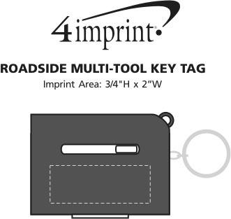Imprint Area of Roadside Multi-Tool Keychain