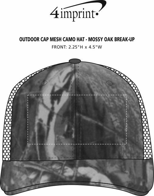 Imprint Area of Outdoor Cap Mesh Camo Hat - Mossy Oak Break-Up