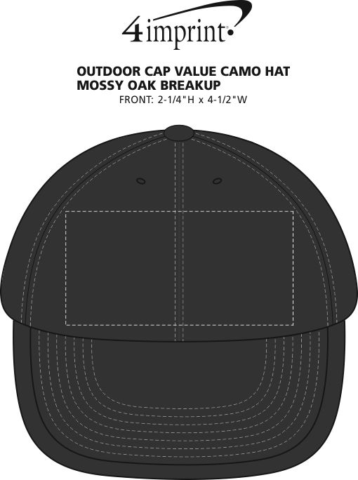 Imprint Area of Outdoor Cap Classic Camouflage Cap - Mossy Oak Break-Up