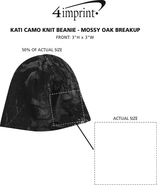 Imprint Area of Kati Camo Knit Beanie - Mossy Oak Break-Up