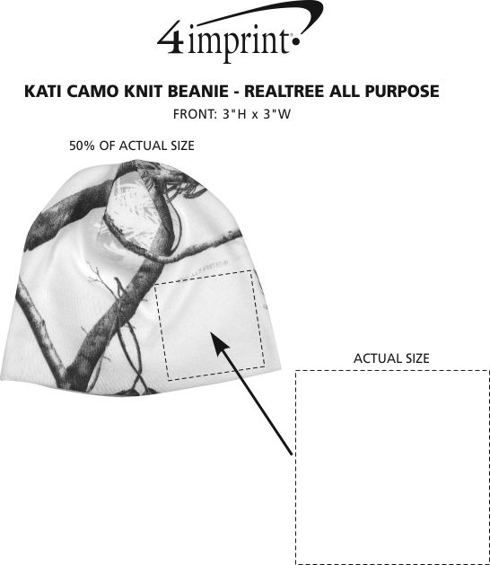 Imprint Area of Kati Camo Knit Beanie - Realtree