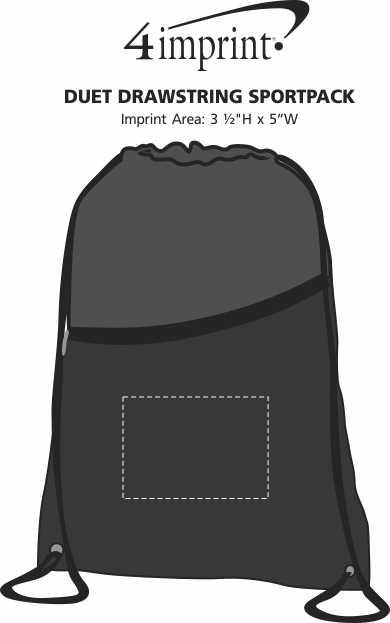 Imprint Area of Duet Drawstring Sportpack