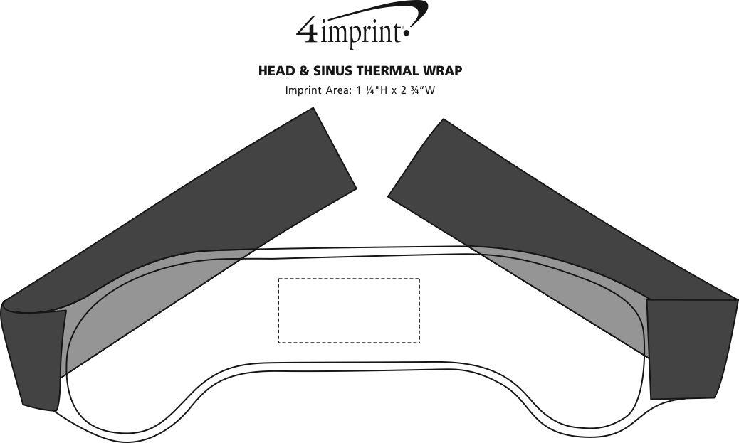 Imprint Area of Head & Sinus Thermal Wrap