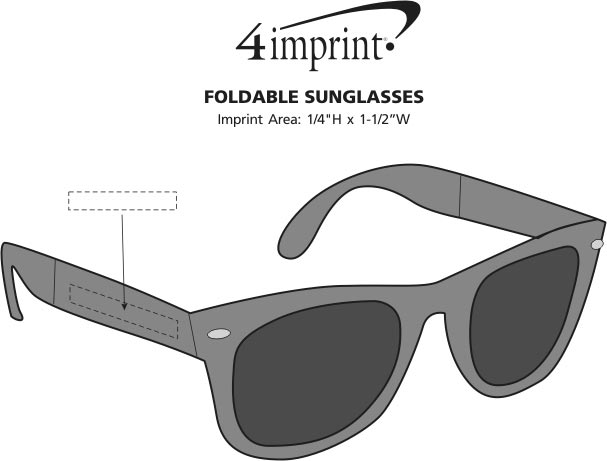 Imprint Area of Foldable Sunglasses
