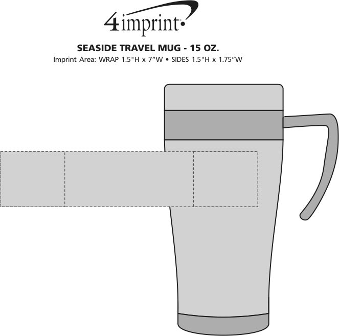 Imprint Area of Seaside Travel Mug - 15 oz.