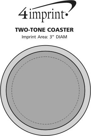 Imprint Area of Two-Tone Coaster