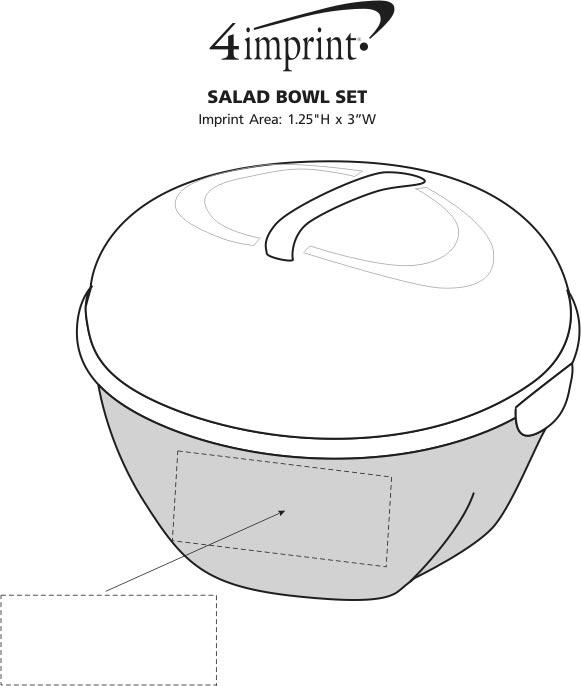 Imprint Area of Salad Bowl Set