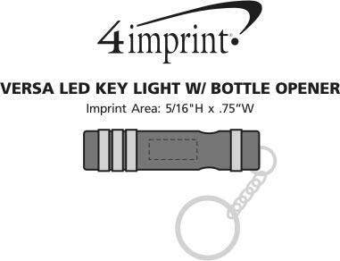 Imprint Area of Versa LED Key Light with Bottle Opener