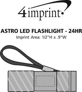Imprint Area of Astro LED Flashlight - 24 hr