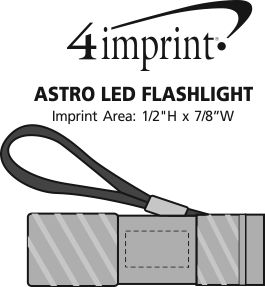Imprint Area of Astro LED Flashlight