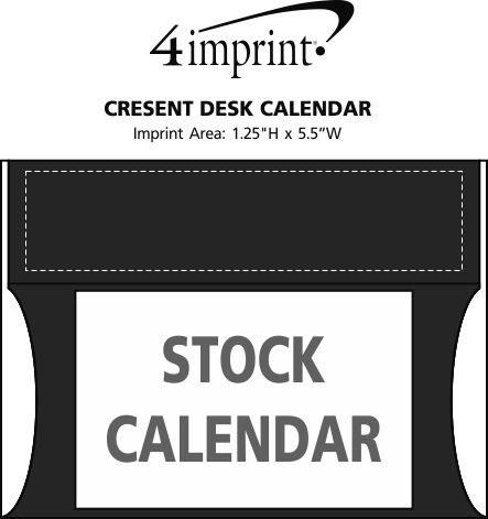 Imprint Area of Crescent Desk Calendar