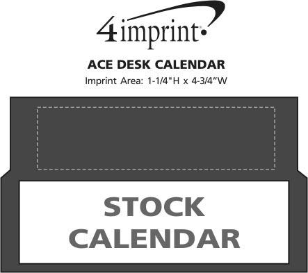 Imprint Area of Ace Desk Calendar