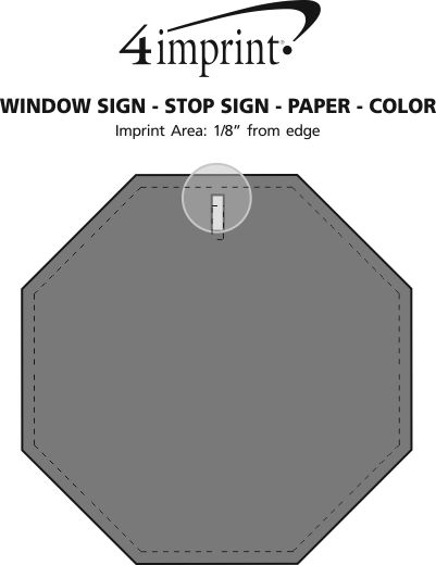 Imprint Area of Window Sign - Stop Sign - Paper - Color