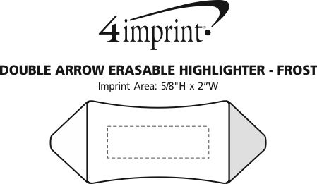 Imprint Area of Double Arrow Erasable Highlighter - Frost