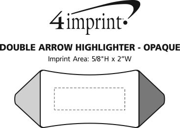 Imprint Area of Double Arrow Highlighter - Opaque