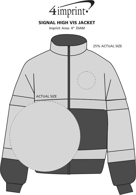 Imprint Area of Signal High Vis Jacket