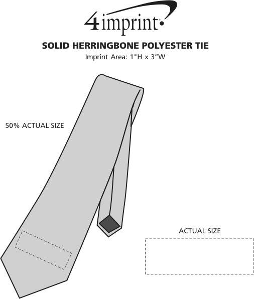Imprint Area of Solid Herringbone Polyester Tie