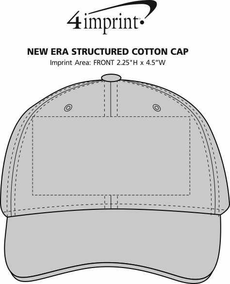 Imprint Area of New Era Structured Cotton Cap