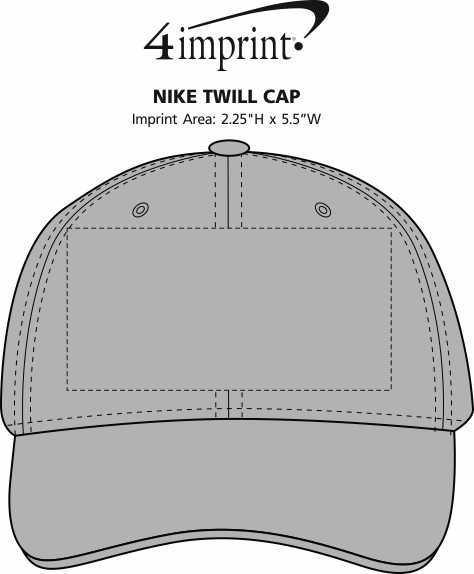 Imprint Area of Nike Twill Cap