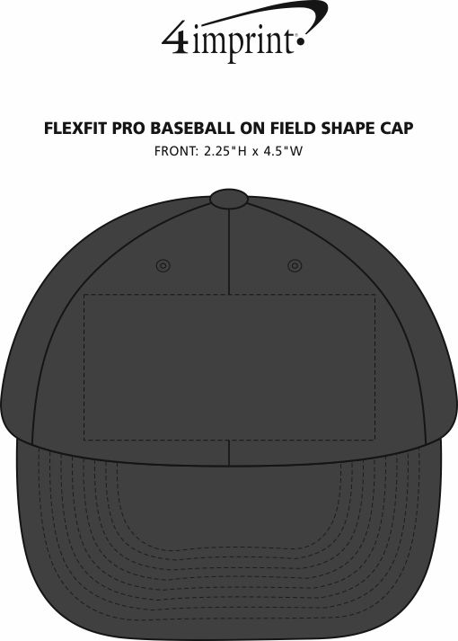 Imprint Area of Flexfit Pro Baseball on Field Shape Cap