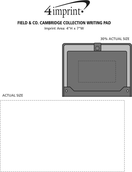 Imprint Area of Field & Co. Cambridge Collection Writing Pad