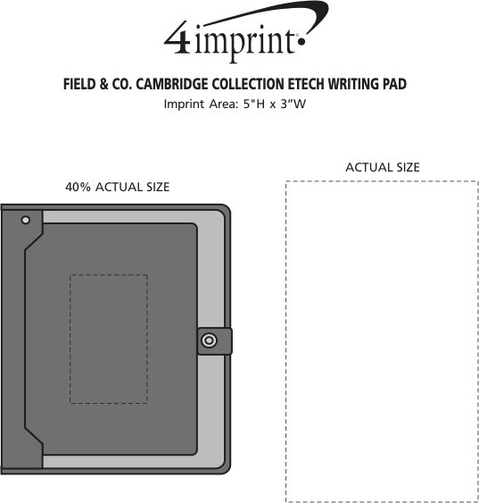 Imprint Area of Field & Co. Cambridge Collection eTech Writing Pad