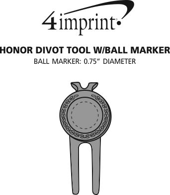Imprint Area of Honor Divot Tool with Ball Marker