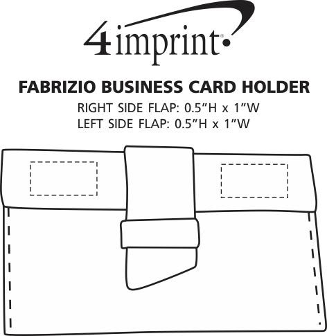 Imprint Area of Fabrizio Business Card Holder
