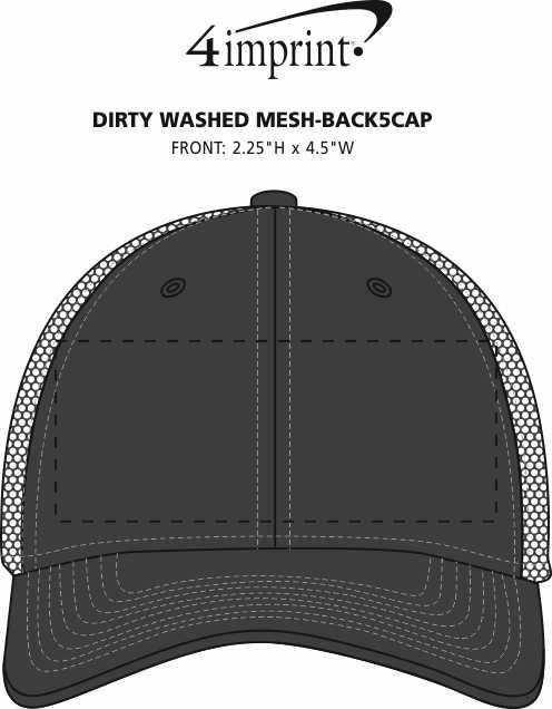 Imprint Area of New Era Spacer Mesh Contrast Stitch Cap