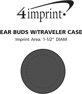 Imprint Area of Ear Buds with Traveler Case